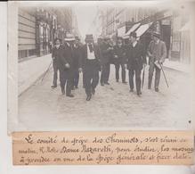 COMITE DE GREVE DES CHEMINOTS  GRÈVE GÉNÉRALE  AT FIXER CHEMIN DE FER  18*13CM Maurice-Louis BRANGER PARÍS (1874-1950) - Trenes