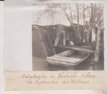CATASTROPHE CHEMIN DE FER MONTREUIL BELLAY   18*13CM Maurice-Louis BRANGER PARÍS (1874-1950) - Trenes