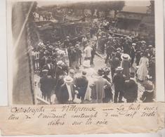 CATASTROPHE DE VILLEPREUX CHEMIN DE FER L'ACCIDENT 18*13CM Maurice-Louis BRANGER PARÍS (1874-1950) - Trenes