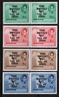 GHANA  Scott # 28-31** VF MINT NH PAIRS  (Stamp Scan # 523) - Ghana (1957-...)