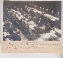 CONGRES  DES CHEMINOTS DANS LEUR NOUVEL HOTEL DE LA RUE L'ENTREPÔT 18*13CM Maurice-Louis BRANGER PARÍS (1874-1950) - Trenes
