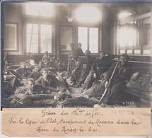 1910 GRÈVE DES CHEMINS DE FER LIGNE DE L'EST ZOUAVES  GARE NOISY LE SEC 18*13CM Maurice-Louis BRANGER PARÍS (1874-1950) - Trenes