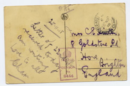 Picture Postcard Tournai Belgium 1918 Censor 6444 Field Post Office S0 - Guerre 1914-18