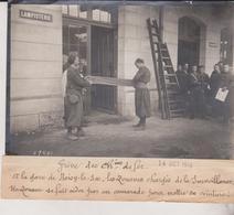 1910 GRÈVE DES CHEMINS DE FER ZOUAVES GARE NOISY LE SEC  LIGNE DE L'EST 18*13CM Maurice-Louis BRANGER PARÍS (1874-1950) - Trenes