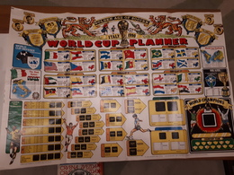 Old Posters - World Cup Planner, Soccer,  Italia 1990, RR - Afiches