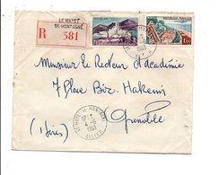 AFFRANCHISSEMENT COMPOSE SUR LETTRE RECOMMANDEE DE LE MAYET DE MONTAGNE ALLIER 1963 - Poststempel (Briefe)