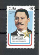 Cuba 1998 Brig. Gen. Vidal Ducasse Reeve (1852-98) MNH Scott 3903 Value $0.65 - Cuba
