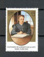 Cuba 1998 Capt. Isabel  Rubio Diaz Medical Aide During Revolution Death Centenary. MNH Scott 3902. Value $0.65 - Cuba