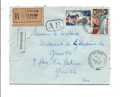AFFRANCHISSEMENT COMPOSE SUR LETTRE RECOMMANDEE AR DE SAINT GERVAIS LES BAINS HAUTE SAVOIE 1963 - Postmark Collection (Covers)