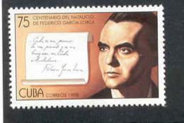 Cuba 1998 Federico Garcia Lorca (1898-1936), Poet. MNH. Scott 3928. Value $3.50 - Cuba