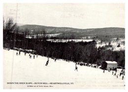 Vermont Heartwellville, Skiing Down The Slope Dutch Hill - United States