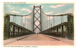 Canada Quebec , Isle Of Orleans Bridge - Quebec