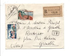 AFFRANCHISSEMENT COMPOSE SUR LETTRE RECOMMANDEE DE BOURG DE PEAGE DROME 1963 - Storia Postale
