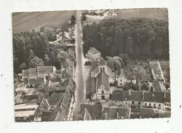 Cp , 37 ,  L'ILE BOUCHARD ,  église Saint Gilles Et La Route De Sainte Maure ,  Vue Aérienne ,  Vierge , Ed. Combier - L'Île-Bouchard
