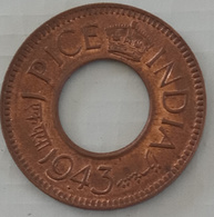 Inde India 1943 Large 3..1 Pice  Coin..(Ref.E) - India