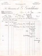 8-1557    FACTURE  1922 SUCCESSEURS DE G GOUDCHAUX A LYON - M. BERTHOLY A ROANNE - France