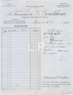 8-1558    FACTURE  1922 SUCCESSEURS DE G GOUDCHAUX A LYON - M. BERTHOLY A ROANNE - France