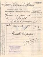 8-1577    FACTURE  1914 AGENCE NATIONALE D AFFICHAGE A NARBONNE - M. CASTEL A CARCASSONNE - France