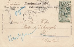 Schweiz: 1900: Ansichtskarte Genf Nach Vietnam, Nachgebühr - Non Classés