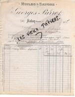 13- Bouches-du-rhône - SALON-DE-PROVENCE - Facture PARROT - Huiles Et Savons - 1907 - REF 120A - 1900 – 1949