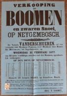 Affiche - Verkooping Van Boomen En Zware Snoei Op Neyghembosch - 21 Februari 1877 (Vente D'arbres à  Neygembosch) - Afiches