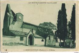 Lot 3 CPA 31 Montaudran Toulouse L'eglise 2 Differentes Et Pont De L'hers Et Le Panier Fleuri 1934 - Altri Comuni
