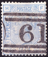 GREAT BRITAIN 1880 QV 2.5d Blue SG142 Plate 18 Used - 1840-1901 (Victoria)