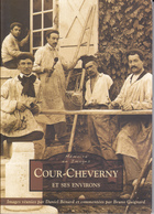 SU-19-384 : LIVRE DE CARTES POSTALES. COUR-CHEVERNY. CHEVERNY. FONTAINES ET TOUR EN SOLOGNE. B. GUIGNARD. D. BENARD. - France