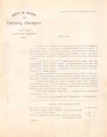 9-1384    FACTURE  1912 FABRICANTS D HORLOGERIE DU DOUBS A BESANCON - 1900 – 1949