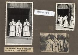 TORCHAMP  (61)  2 Photos Authentiques - Première Messe à TORCHAMP De Mr L'Abbé MAIGNAN - 4 Juillet 1950 - Lieux