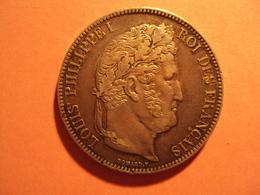 5 F LOUIS PHILLIPE I EN ARGENT 1838 EN TTB + A VENDRE 40 EUR AU LIEU DE 80 EUR. - J. 5 Francs