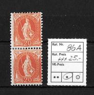 1882 - 1906 STEHENDE HELVETIA Gezähnt →  SBK-86A* - Unused Stamps