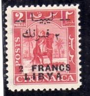 LIBIA LIBYA 1951 REGNO INDIPENDENTE EMISSIONE FEZZAN I TIRATURA 2f Su 2m MNH - Libia