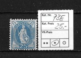 1882 - 1906 STEHENDE HELVETIA Gezähnt →  SBK-73E* - 1882-1906 Wappen, Stehende Helvetia & UPU