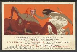 Cartolina Art Déco Manifesto Del Teatro Greco Di Siracusa Firmata D. Cambellotti - Siracusa