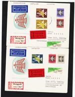 OCT314 DDR 1957 MICHL 609/15 Auf 2 RECO / EINSCHREIBEN SIEHE ABBILDUNG - DDR