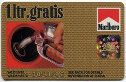 Telecarte Litre Gratis - Marlboro . 1996 . Recto-verso Gibraltar - Petrole