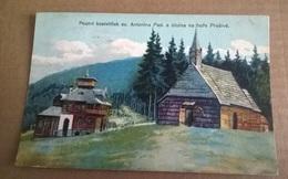 POUTNI KOSTELICEK SV ANTONIN PAD A UTULNA NA HORE PRASIVE  VIAGGIATA 1933  (601) - Repubblica Ceca