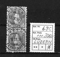 1882 - 1906 STEHENDE HELVETIA Gezähnt →  SBK-2 X 69C / Luzern - Oblitérés
