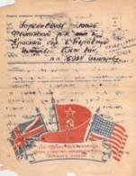WWII WW2 Russia URSS Soviet Original Letter Card Lettercard FREE STANDARD SHIPPING WORLDWIDE (2) - Storia Postale