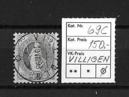 1882 - 1906 STEHENDE HELVETIA Gezähnt →  SBK-69C / Villigen - Oblitérés