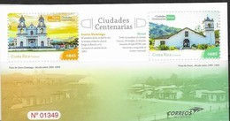 COSTA RICA, 2019, MNH,  ARCHITECTURE, CHURCHES, OLD  CITIES, SHEETLET - Churches & Cathedrals