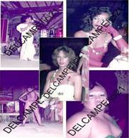 Lot De 5 Raéraé (Réré = Travesti) à TAHITI Au Piano-Bar En 1982 Lors De L'élection De Leur Miss_D99-103 - Tahiti