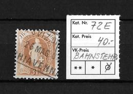 1882 - 1906 STEHENDE HELVETIA Gezähnt →  SBK-72E / Bahnpost Schweiz Via Chiavenna - Usati