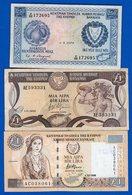 Chypre  3  Billets - Cyprus