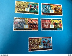 COMORES 1978 6 V Neuf ** MNH Surchargés Mi 384 A 389 Aerien Soccer World Cup COMOROS KOMOREN - Copa Mundial