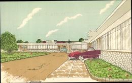 Cp Aguascalientes Mexiko, San Marcos Motor Hotel, Autos - Postcards