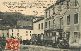 43 Saint Privat D'Allier L'arrivée De L'autobus Du Puy à Saugues  Ref 1880 - France