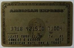 USA - Credit Card - American Express - American National Bank & Trust - Exp 11/78 - Used - Geldkarten (Ablauf Min. 10 Jahre)