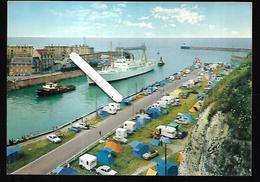 Cpm 7620452 Dieppe Le Fort Saint-pierre Entrant Au Port, Remorqueurs , Camping, + Le Brighton Offert - Dieppe